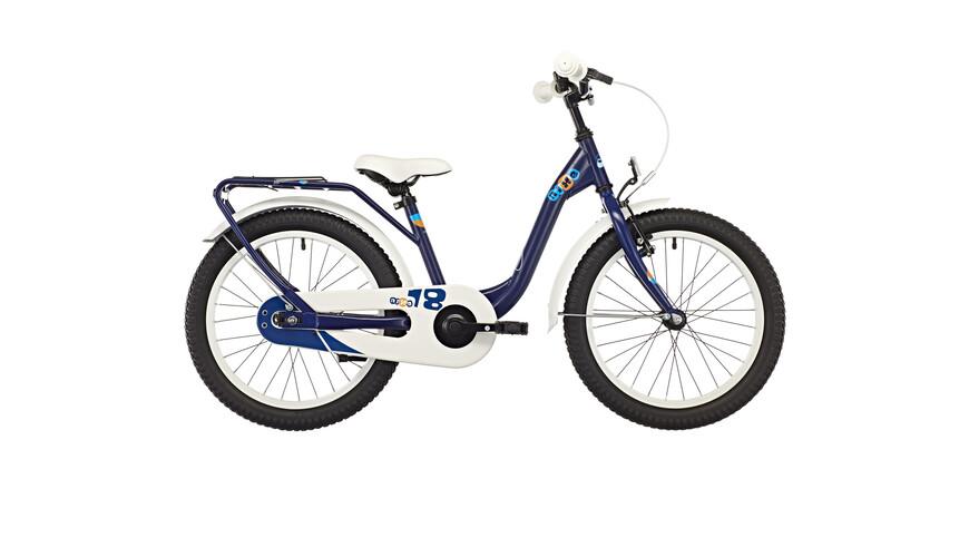 s'cool niXe 18 steel kinderfiets blauw